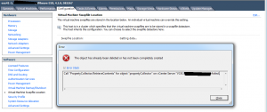 "Call ""PropertyCollector.RetrieveContents"" for object ""propertyCollector"" on vCenter Server """" failed."