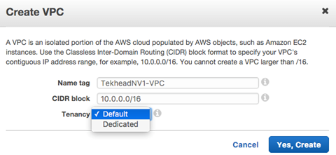 AWS Dedicated VPCs