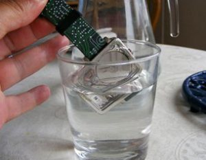 When did you last stcik an HDD in a glass of water and expect it to keep working?!