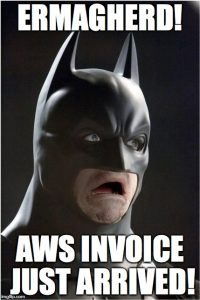 AWS Dedicated VPCs invoice