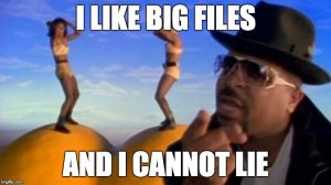 Sir Mixalot likes big files