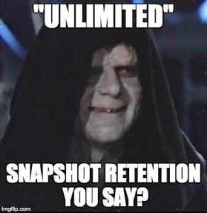 unlimited snapshot retention